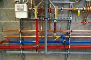 pipes in plumbing system from Houston commercial plumbing company
